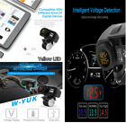 4.2A Motorcycle USB Charger Voltmeter Thermometer w/Phone Intelligent Location