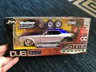 2 1965 FORD MUSTANG DUB CITY BIG TIME MUSCLE JADA DIE CAST 124 CARS NEW