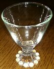 Anchor Hocking Boopie Burple 4 oz wine glass etched dots clear