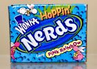 Vintage 2002 Willy Wonka Pink Rainbow NERDS Candy Snack Box Container Fleer PEZ