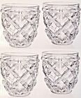 SET of 4 Shannon Crystal DOF Glasses Ireland Scotch Whisky Cognac Bamboo Garden