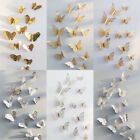 12 Pcs 3D Hollow Wall Stickers Butterfly Fridge Home Bedroom Decoration Stickers