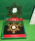 HALLMARK   [ GREATEST STORY ]  PORCELAIN AND BRASS   ORNAMENT  USED  HAS BOX
