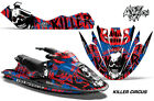 Bombardier Sea-Doo GTX Jet Ski Decals Sticker Wrap Graphics Kit 96-99 CIRCUS RED