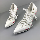 Womens High Heel Sneakers Pointy Toe Lace Up Stilettos Pumps Sport Shoes Lace Up