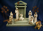 Demdaco Willow Tree Nativity 14PC Collection With Creche