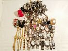 Lot of Mix Watches Over 20 Pounds Men Women Children Gold Silver Tone Crystals