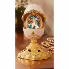 Nativity of Christ Deluxe Jeweled Ornament Enameled Egg With Surprise