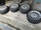 Four MG ZT 18 alloy wheels