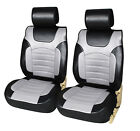 2 Luxurious Leather Like Car Seat Covers Cushion to Jeep 6803 Gray