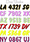 *BOAT PWC REGISTRATION NUMBERS FLASH D BOL TIGE JET SKI WAVE RUNNER,TIGE,