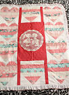 Handmade Quilt For Baby With A First Kiss Doily In The Center 43 x 53 NEW