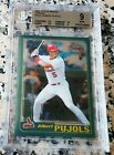 ALBERT PUJOLS 2001 Topps Chrome Rookie Card RC BGS 9 9.5 $ 2 WS Rings $ 656 HRs