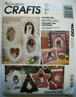 Fabric picture frames star oval heart shaped decor sewing pattern 4050 uncut
