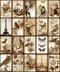 20 FLORAL VARIETY BIRDS BUTTERFLIES HANG GIFT TAGS FOR SCRAPBOOK PAGES 49