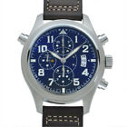 Free Shipping Pre-owned IWC Pilot Watch Double Chronograph IW371807 Blue Dial