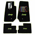 JEEP JK 2 Door Floor Mats Wrangler Sahara Rubicon 2007 2018 Custom Colors