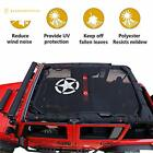 Jeep Wrangler JK Bikini Mesh Top SunShade Cover with Army star and For Jeep JK J