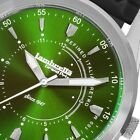 Lambretta Marco 40 Mens Watch Rubber Silver with Green Dial New in Box