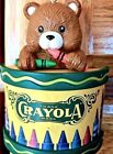 Crayola Christmas Ornament: Crayon Box w/Teddy Bear on Top Binney