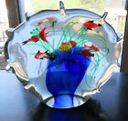 Vintage Murano Glass Aquarium Large Paperweight Sculpture over 9 Pounds
