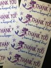 50 Mermaid Thank You Stickers Labels