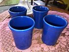 FIESTA SAPPHIRE BLUE (CONTEMPORARY) SET OF 4 6 Oz Tumblers NIB