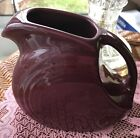 FIESTA 28 OZ. SMALL DISK DISC JUICE PITCHER DISCONTINUED CLARET