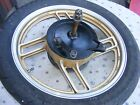 Yamaha  Vision XZ550S GOLD REAR WHEEL COMPLETE W/BRAKE/AXLE TIRE NOT CRACKED-VG