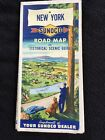VTG NEW YORK SUNOCO HISTORICAL SCENIC GUIDE MAP WORCESTER MASS  ~