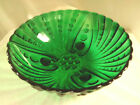 Vtg 8 1/2'' Anchor Hocking Forest Green Bubble Footed Serving Bowl
