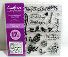 Crafters Companion Clear Acrylic Stamp Set Spring is in the Air