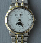 Beautiful Blancpain Villeret Steel & Gold Automatic Watch 33mm daydate moonphase