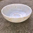 ✳️ Vintage White Milk Glass Orange Paint Splatter Splash Bowl Mid Century Modern