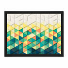 Texture Geometric Triangle Shapes Large Framed Art Print Poster 18x24 Inches