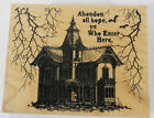 Recollections Halloween Haunted House Rubber Stamp New Wood Mounted Spooky