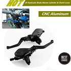 CNC Aluminum Hydraulic Brake Master Cylinder w/Adjustable Lever& Fluid Reservoir