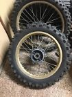 """1987 1988 HONDA CR500 CR250 CR125 Front 21"""" And Rear 18"""" Wheel Wheels With Tires"""