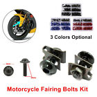 Fixed Motorcycle Screw Set Windscreen Fairing Bolts Fastener Clip Screw Rivet