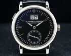 A. Lange and Sohne 308.027 Langematik Big Date Black Dial BOX AND PAPERS