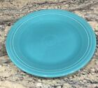 """FIESTA HOMER LAUGHLIN HLC TURQUOISE DINNER PLATE 10 5/8""""D Ex Cond Gently Used"""