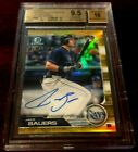 14 50 JAKE BAUERS 2019 Bowman Chrome Gold Refractor Autograph Rookie BGS 9.5