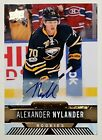 2017-18 ALEX NYLANDER UD OVERTIME ROOKIE AUTOGRAPH CARD #47 AUTO RC
