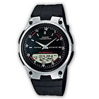 Brand New Casio AW-80-1AVES Collection Black Resin Analog Digital Men's Watch