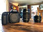 Canon EOS 80D Camera (Body only) + Canon EFS 18-135mm Zoom + Canon EF 50mm lens