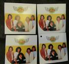 Lot of 4 CIRCULAR 1982 NEW STICKERS REO Speedwagon not cd Richrath Cronin