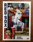 2003 Topps Archives Fan Favorites WADE BOGGS AUTO SP SSP SHORT PRINT