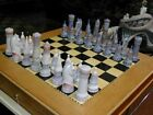 Lladro 6333 Medieval Chess Set  Perfect Condition Safe Packaging
