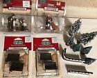 Lot Vintage 1998 LEMAX Christmas Village Figures Sign Painter Hula Benches Trees