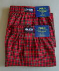 NWT POLO RALPH LAUREN Set of 2 Sz L 35 38 Boxer Underwear CLASSIC FIT Red Cotton